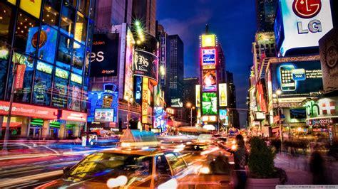 New York City At Night Ultra HD Desktop Background ...