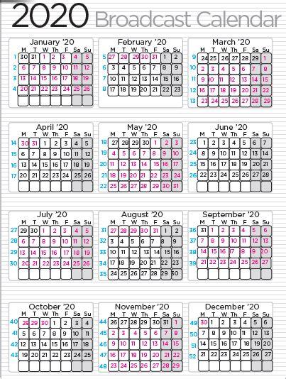 broadcast calendar media advisors