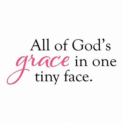 Grace Quotes God Face Wall Tiny Decal