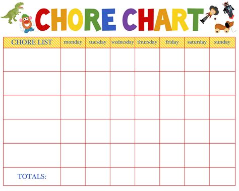 free behavioral aid printables jumping jax designs 749 | Chore Chart Blank