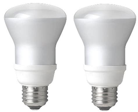 tcp 50 watt equivalent 2 pack cfl r20 flood light bulbs