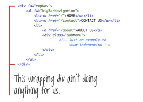 eclipse template with list inside 12 principles for clean html code smashing magazine