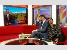 Naga Munchetty 'falls asleep' live on BBC Breakfast TV