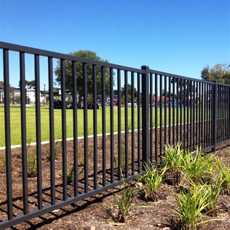 wrought iron fence black welded wire fence
