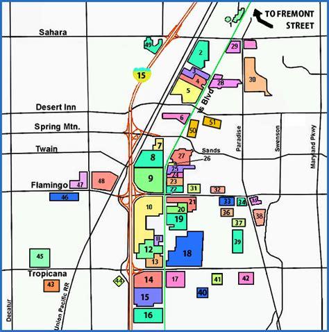 maps  dallas map  las vegas strip