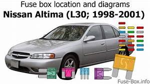 Fuse Box Location And Diagrams  Nissan Altima  L30  1998