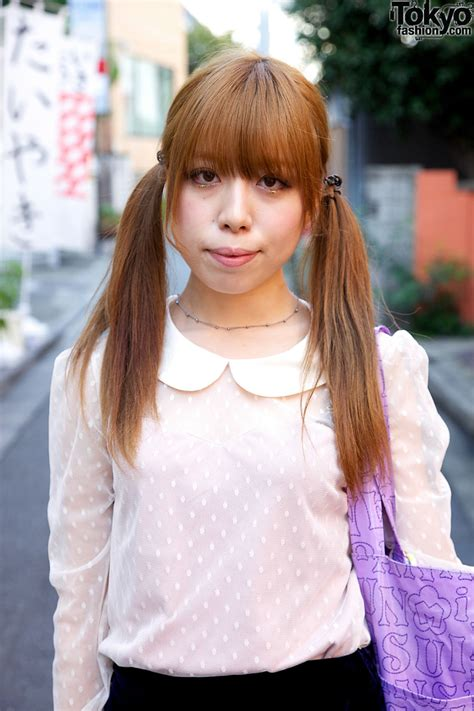 Japanese Pigtail Girl's Dimity Blouse & Lacy Shorts ...