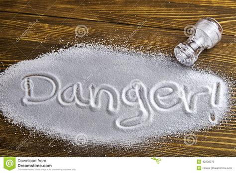 danger of much salt health hazard stock photo image 42230079