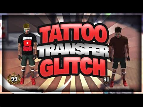 nbak tattoo transfer glitch tutorial
