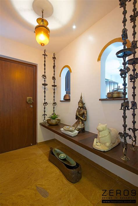 Indian Homes Interiors by Entrance Area Pooja Room Home Decor Indian Home Decor
