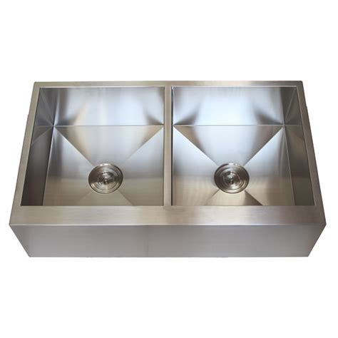 stainless steel farm sink 36 inch stainless steel flat front farmhouse apron kitchen
