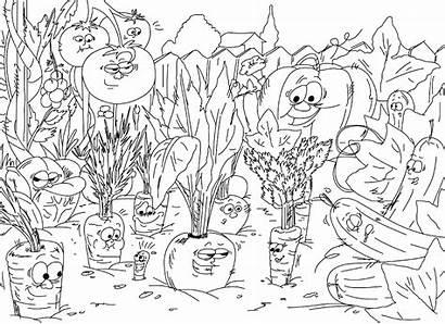 Printable Vegetables Crazy Coloring Rein Close