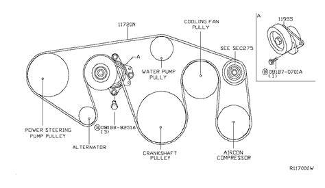 Genuine Nissan Belt Fan Alternator