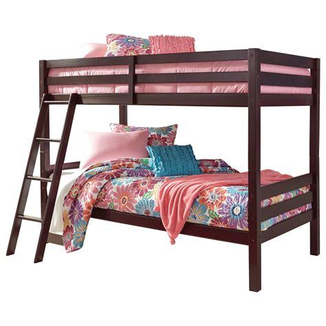 value city bunk beds signature design by halanton solid pine