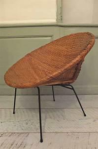 Fauteuil Exterieur Osier : slavia vintage mobilier vintage fauteuil en osier des ~ Premium-room.com Idées de Décoration