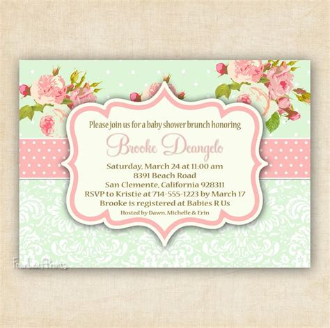 shabby chic baby shower invites shabby chic baby shower invites cimvitation