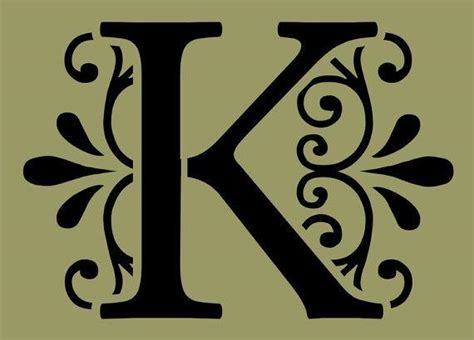 fancy letter k clipart 43