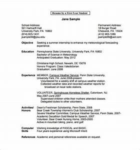 first year student resume best resume collection With college student resume template word