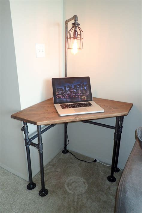 pipe computer desk industrial pipe corner desk pub height or normal height