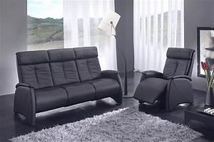 canape relax noir 3 places des meubles mailleux photo 11 With tapis chambre bébé avec canape cuir relax