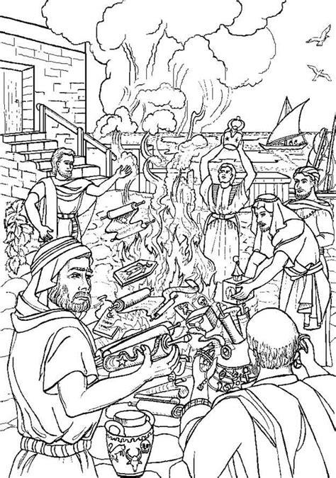 Kleurplaat Paulus Schipbreuk by Kleuren Nu Paulus Verbrandt Heidense Voorwerpen Kleurplaten