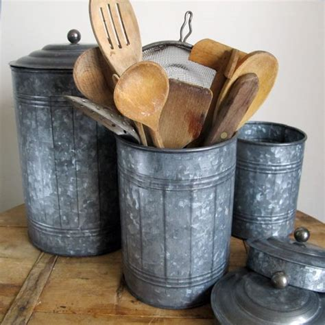farmhouse kitchen canisters for you farmhouse kitchen galvanized canisters fifty