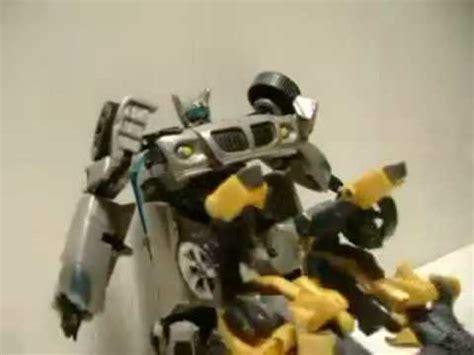 Transformers Stop Motion  Jazz Vs Bumblebee Youtube