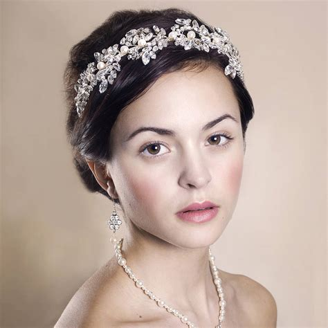 Wedding Tiaras by Handmade Laurel Wedding Tiara By Rosie Willett Designs