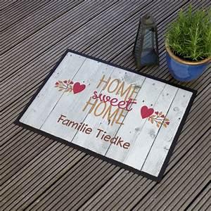 Fußabtreter Mit Namen : fu abtreter home sweet home mit den namen der bewohner ~ Michelbontemps.com Haus und Dekorationen
