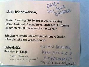Nachbarn Schriftlich über Party Informieren : hausparty in berlin ~ Frokenaadalensverden.com Haus und Dekorationen