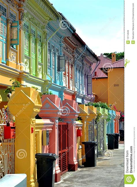 colorful colonial houses royalty free stock images image
