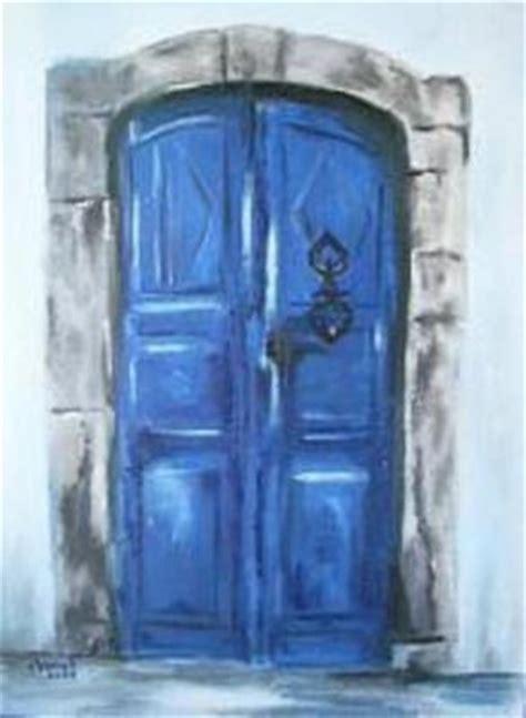 la porte bleue chanah artiste peintre vous invite