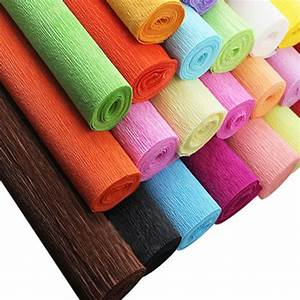 7roll/lot2 5m x50cm colored crepe papel roll wedding event
