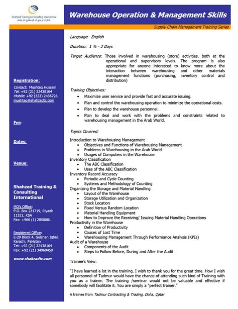 material handler resume skills warehouse resume exle