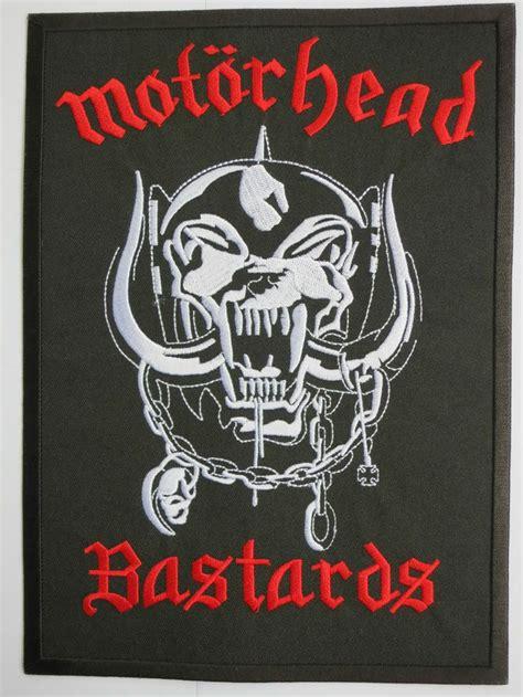 motorhead bastards logo heavy metal big embroidered