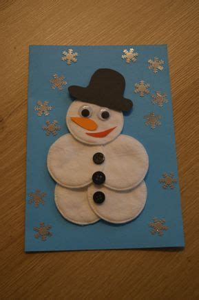 winter basteln mit kindern unter 3 basteln mit senioren einen schneemann aus watte basteln bastelei crafts for