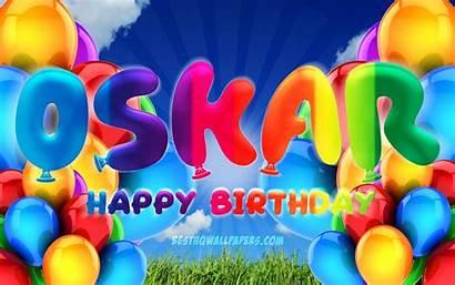 Birthday Happy Oskar Male Sky 4k Cloudy