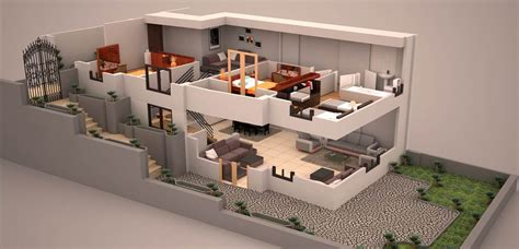duplex  plan  plans en  planos  construir