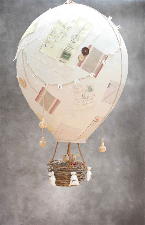 diy papier mache hot air balloon  www