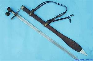 Oriental-Arms: Good Kaskara Sword with a Silver Mounts