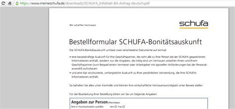 Schufa Auskunft Für Vermieter Kostenlos by Schufa Auskunft Per Post Beantragen Schufa Auskunft
