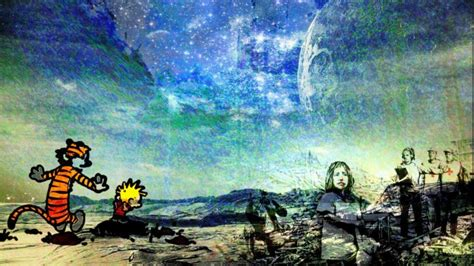 ❤ get the best calvin and hobbes wallpaper space on wallpaperset. calvin, And, Hobbes, Comics, Dark, Stars, Surreal ...