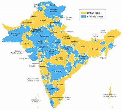 Princely India States British United Rajput Map