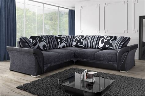 black grey fabric corner sofa sofa direct