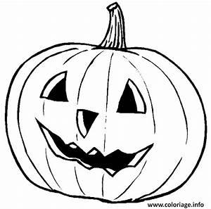 Tete De Citrouille Pour Halloween : coloriage citrouille d halloween avec un visage dessin ~ Melissatoandfro.com Idées de Décoration