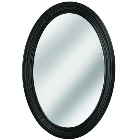 mirrors home depot bathroom glacier bay 31 in x 21 in small beveled oval mirror 1845