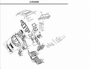 Fender Of Linhai Bighorn Utv 400 Lx Parts