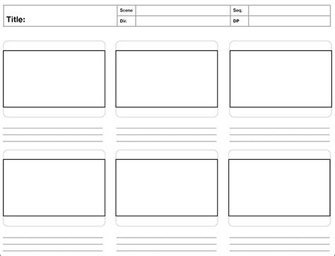 storyboard template 8 storyboard template free word pdf psd formats