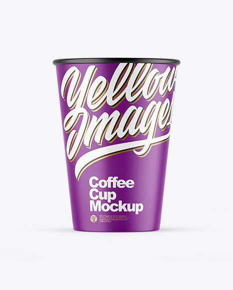Coffee cup with holder free mockups to showcase your branding design in a photorealistic style. Matte Coffee Cup Mockup | Exclusive Mockups