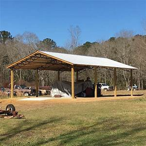 pole barns by all metal building systems With all metal building systems